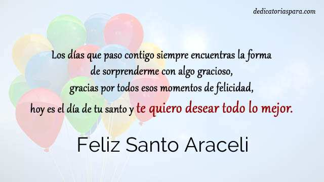 Feliz Santo Araceli