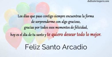 Feliz Santo Arcadio