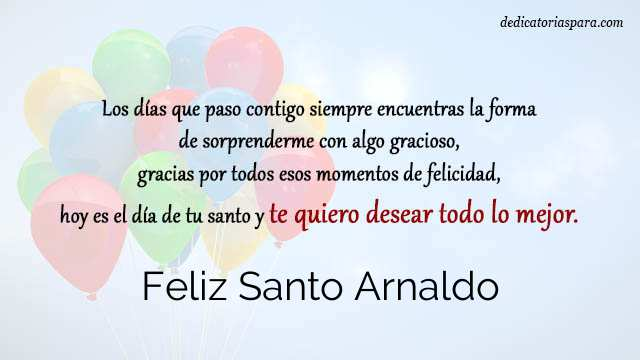 Feliz Santo Arnaldo
