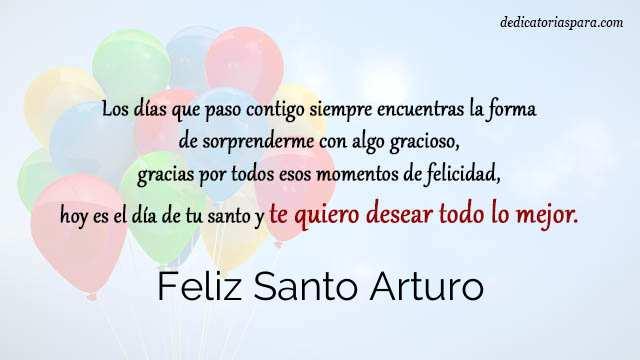 Feliz Santo Arturo