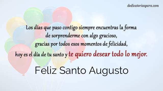 Feliz Santo Augusto