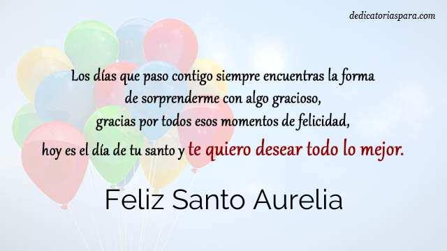 Feliz Santo Aurelia