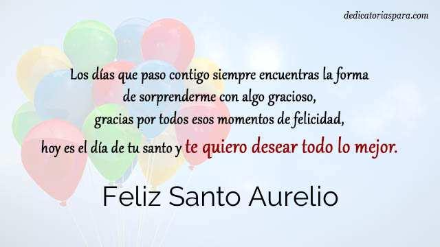 Feliz Santo Aurelio