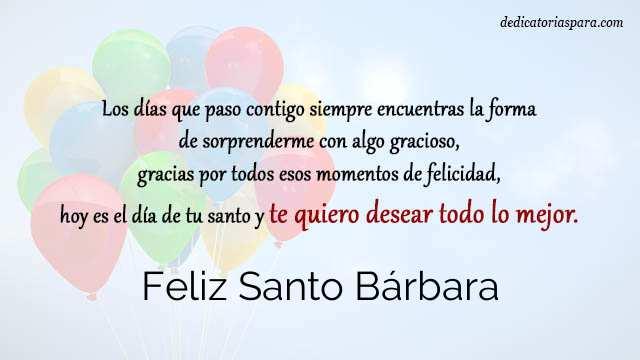Feliz Santo Bárbara