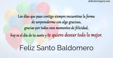 Feliz Santo Baldomero