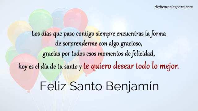 Feliz Santo Benjamín