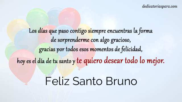 Feliz Santo Bruno