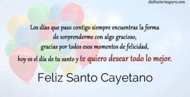 Feliz Santo Cayetano
