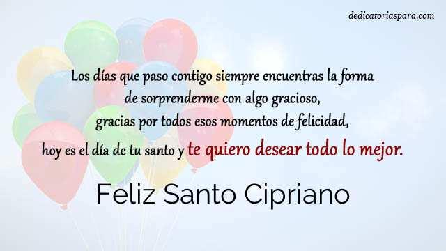 Feliz Santo Cipriano