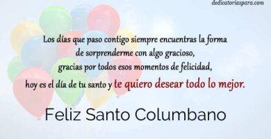 Feliz Santo Columbano