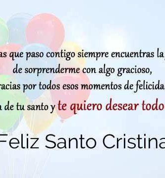 Feliz Santo Cristina