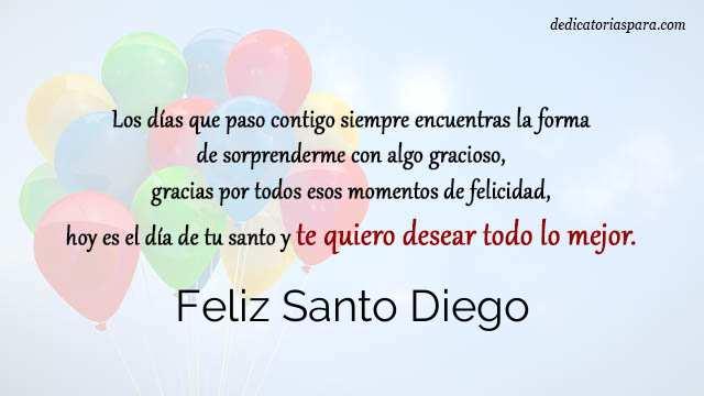 Feliz Santo Diego
