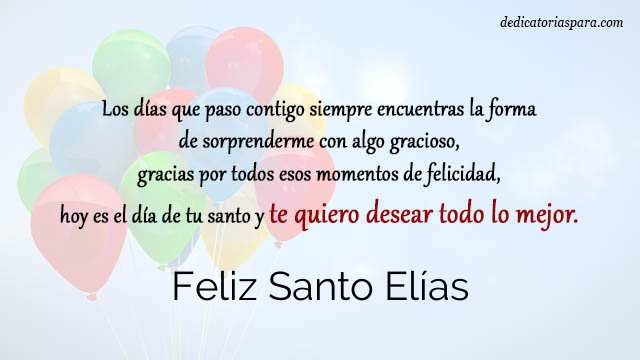 Feliz Santo Elías