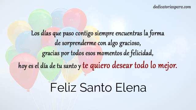 Feliz Santo Elena