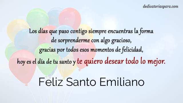 Feliz Santo Emiliano