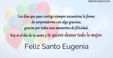 Feliz Santo Eugenia