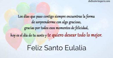 Feliz Santo Eulalia