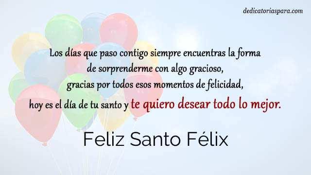 Feliz Santo Félix