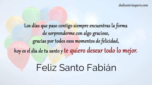 Feliz Santo Fabián