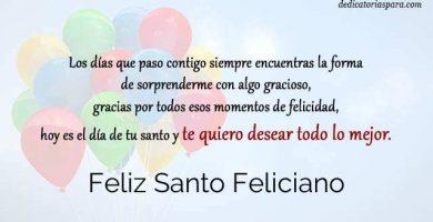 Feliz Santo Feliciano