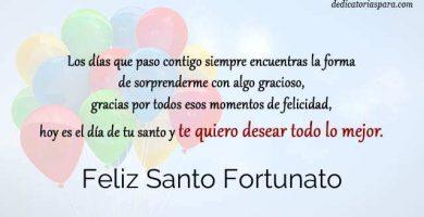 Feliz Santo Fortunato
