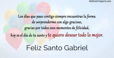 Feliz Santo Gabriel