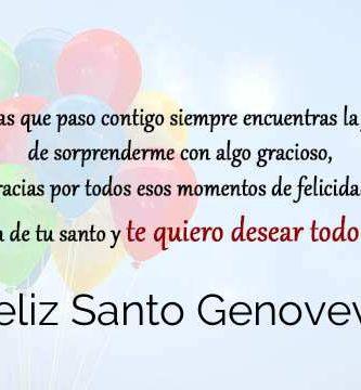 Feliz Santo Genoveva