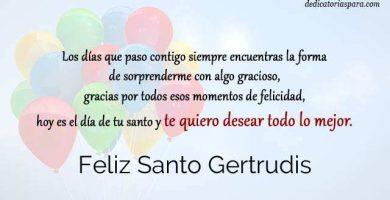 Feliz Santo Gertrudis