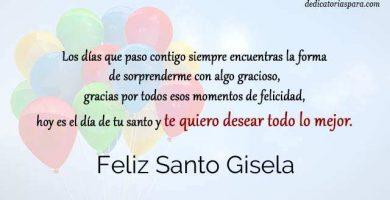 Feliz Santo Gisela