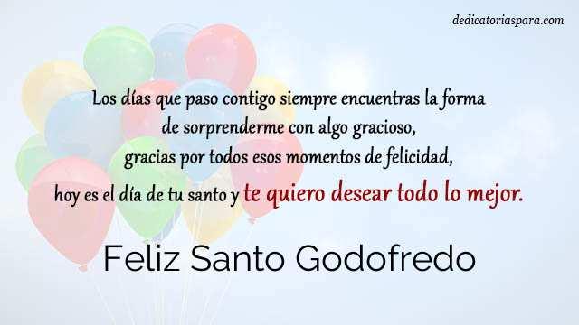 Feliz Santo Godofredo