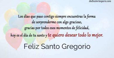 Feliz Santo Gregorio