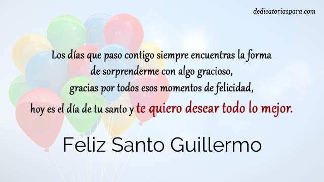 Feliz Santo Guillermo