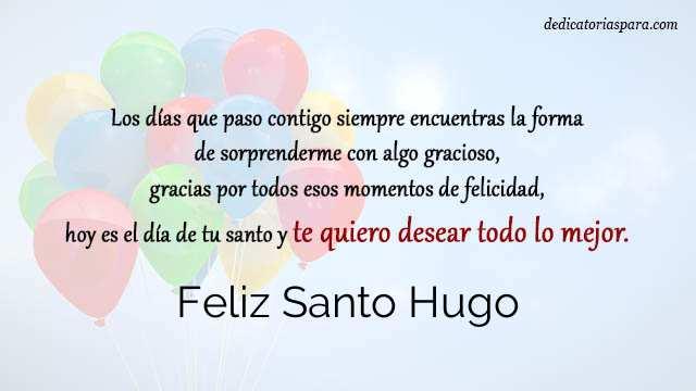 Feliz Santo Hugo