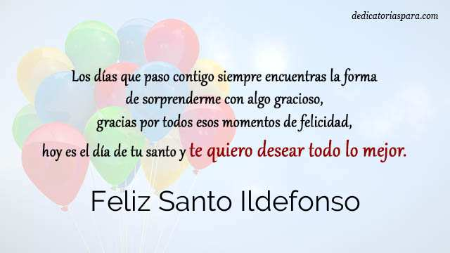 Feliz Santo Ildefonso