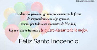 Feliz Santo Inocencio