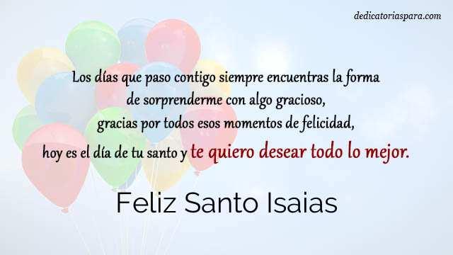 Feliz Santo Isaias