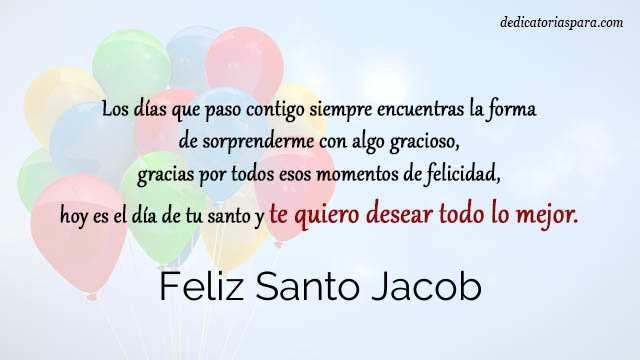 Feliz Santo Jacob