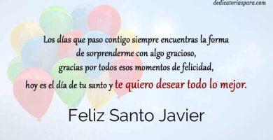 Feliz Santo Javier
