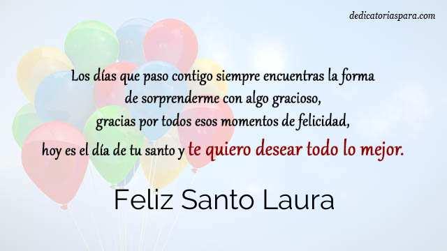 Feliz Santo Laura