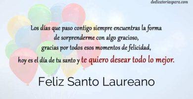 Feliz Santo Laureano