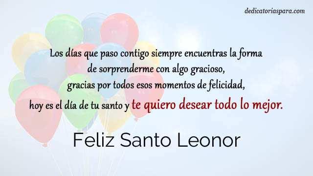 Feliz Santo Leonor