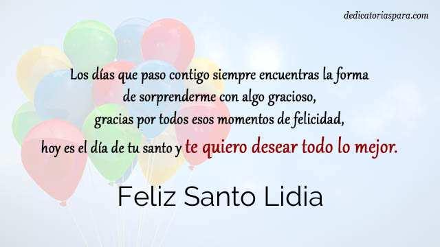 Feliz Santo Lidia
