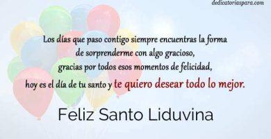Feliz Santo Liduvina