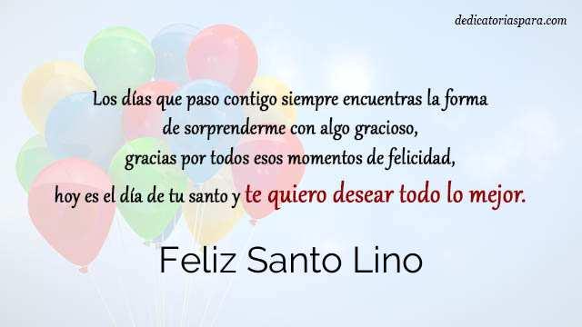 Feliz Santo Lino