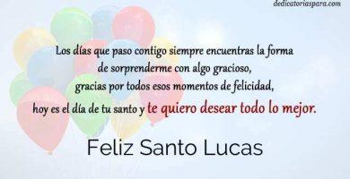 Feliz Santo Lucas