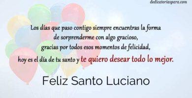 Feliz Santo Luciano