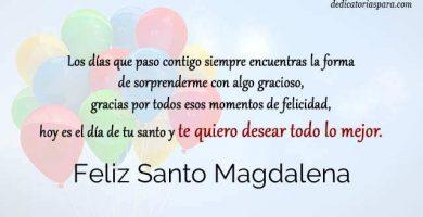 Feliz Santo Magdalena