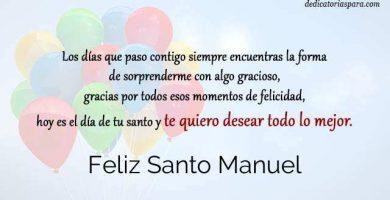 Feliz Santo Manuel