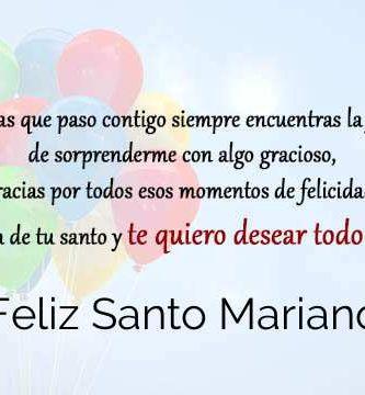 Feliz Santo Mariano