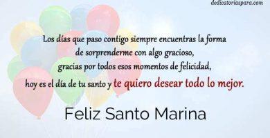 Feliz Santo Marina